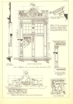 Architectural Details Drawing Andrew N Prentice by CarambasVintage, $22.00