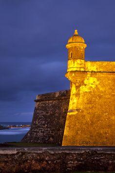 Sentry box on Fortress El Morro, San Juan, Puerto Rico