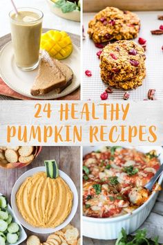 Fall is here and we're ready for all things pumpkin! Check out these 24 healthy pumpkin recipes featuring healthy breakfast options, snacks, hearty dinners