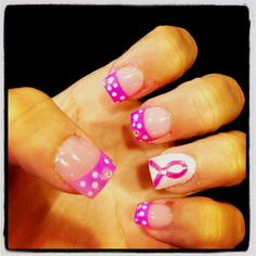Breast cancer :( nails are cute though :)