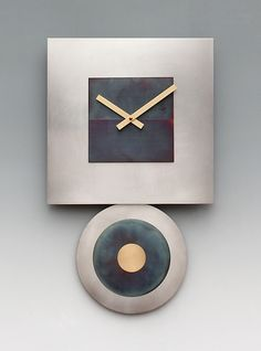 Steel+Dan+Pendulum+Clock by Leonie+Lacouette: Metal+Clock available at www.artfulhome.com