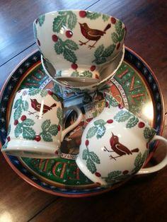 Emma Bridgewater Bird & Berry 0.5 Pint Mug, 0.5 Pint Jug and French Bowls for  Fortnum & Mason 2014