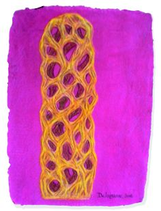 "Colette Delozanne, ""Como un tejido encantado"". Dibujo"