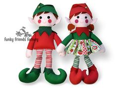 Christmas Elf Sewing Pattern tutorial | Funky Friends Factory