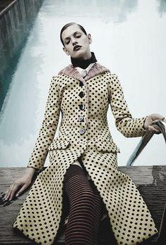 Claudia Anticevic wears Miu MIu ph. byNatalia Alaverdian | Harper's Bazaar Russia, Sept. 2013.