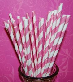 striped party straws