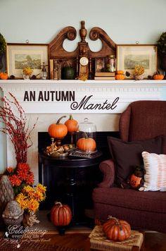 Mantel  Decorations : IDEAS & INSPIRATIONS :Autumn Decor Let's Decorate A Mantel for Fall