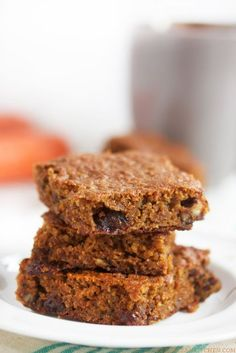 Paleo Carrot and Zucchini Bars | Lexi's Clean Kitchen