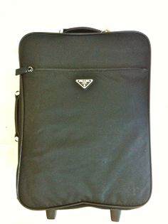 Prada Black Nylon Suitcase via The Queen Bee. Click on the image to see more!
