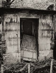 Abandoned Tattet family tomb in the Pere Lachaise cemetery  by Denise Sarazin