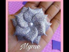Flores de fomi fáciles de hacer/ tiaras para recién nacida, manualidades, goma eva,crafts,bows,Diy - YouTube