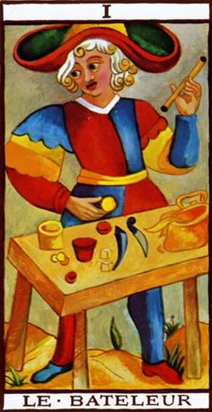 The Magician - Tarot de Marseille - By Nicolas Conver (http://www.wischik.com/lu/tarot/) [Public domain], via Wikimedia Commons