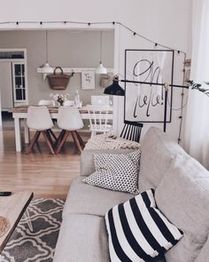 Good morning you - Decoration For Home Living Room Decor, Living Spaces, Interior Decorating, Interior Design, Diy Décoration, Beautiful Living Rooms, Large Furniture, Home Goods, Family Room