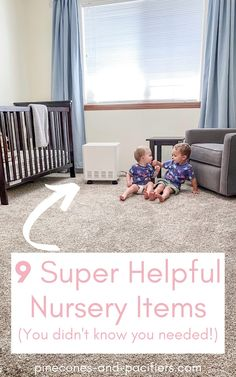 A list of 9 nursery items that you didn't know you needed. Overlooked and underrated items for your nursery that you don't want to forget on your baby registry! Nursery checklist from a second time mom. Girl Nursery Themes, Baby Nursery Decor, Nursery Design, Nursery Ideas, Baby Schedule, Baby On A Budget, Nursery Organization, Rustic Nursery, Baby Development