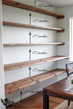 Install wall-to-wall shelving in a dining room. 42 Cheap And Easy Home Upgrades Install wall-to-wall shelving in a dining room. 42 Cheap And Easy Home Upgrades,Dining Room Install wall-to-wall shelving in a dining room. 42 Cheap And Easy Home Upgrades DIY Easy Home Decor, Cheap Home Decor, Easy Home Upgrades, Kitchen Ikea, Kitchen Cabinets, Kitchen Wood, Kitchen Decor, Smart Kitchen, Diy Cabinets