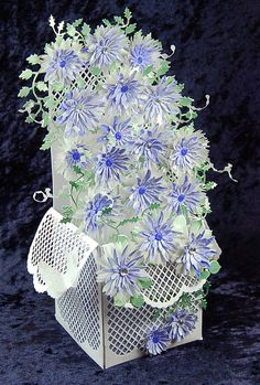 Popping Box Card Template and Trellis Arch and Edge cutting Dies with All Occasion Dies set of 3 x 3 Flowers and Flourishes