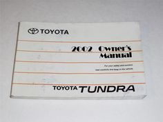 2002 toyota tundra owners manual book guide owners manuals rh pinterest com Toyota Tundra Radio Fuse 2004 toyota tundra owners manual