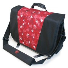 Sumo 16 Inch Messenger Bag - Black and Red - ME-SUMO33MB7