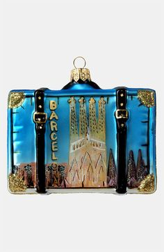 Spain Suitcase Ornament For Your Christmas Tree - Ornament Reviews