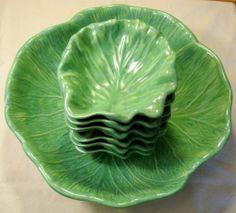 holland molds ceramic | Vintage Holland Mold Cabbage Bowl Set 7 Piece Set | Sagebrushtreasures ...