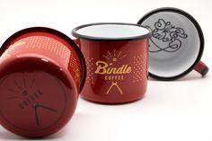 Emalco Enamelware Bindle Coffee - 8cmmug - carmin