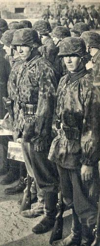 Waffen SS troops awaiting orders