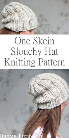 Baby Knitting Patterns Arm One Skein Hat Knitting Pattern : Daring by Brome Fields Easy Knitting, Knitting For Beginners, Loom Knitting, Creative Knitting, Knitting Projects, Crochet Projects, Knitting Ideas, Crochet Ideas, Knit Slouchy Hat Pattern