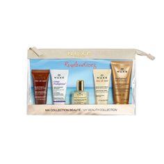 Zestaw Promocyjny Nuxe Kosmetyczka Podróżna, żel do mycia twarzy + krem + olejek + krem do rąk + olejek pod prysznic