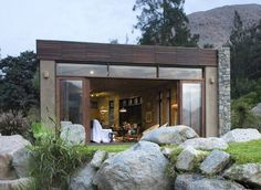 This Sustainable Resource Home Blends with Natural Surroundings #design trendhunter.com