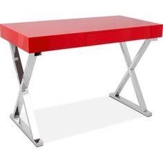 Home Office Furniture Brixton Desk Red