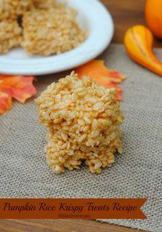 Pumpkin Rice Krispy Treats Recipe