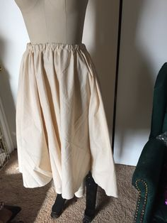 Starting the muslin underskirt for dress 1. NaJo Ivory Wedding Steampunk Couture Gown