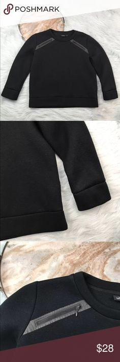 "Kate Spade Saturday Black Scuba Crewneck Top Kate Spade Saturday black scuba crewneck zipper shoulder pullover sweatshirt. Womens size Medium. Gently used, without flaws. See pictures for details.  Armpit to Armpit - 21"" Length - 22""  Inventory 03172017 kate spade Tops"