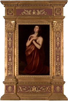 LUCA GIORDANO (Italian, 1634-1705)  Manner of Murillo's Mary Magdalene  Oil on canvas presented in a monumental tabernacle-style frame  30 x 20 x 6-1/4 inches (76.2 x 50.8 x 15.9 cm)  Signed and dated lower left: L. Giordano 1696  Estimate: USD 7,000 - USD 9,000.