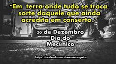 20 de Dezembro  #Dia do Mecânico