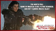 Milla Jovovich, Black Christmas, North Pole, Elves, Reindeer, Sci Fi, Movie Posters, Fictional Characters, Fun