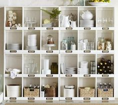 you could easily do this idea to your ikea shelves... for a cheap diy