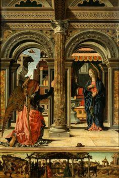 The Annunciation, Francesco del Cossa, 1470-72