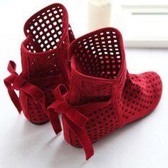 botinha da chpeuzinho vermelho
