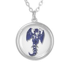 #cute #monster #dragon #blue #fantasy #wings #wolf #jewelry #necklace