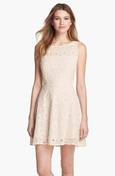 bb dakota lace fit u0026 flare dress bridal shower