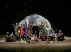 Alejandro Chaskielberg's photos feature a community in the Turkana region of northwest Kenya, but they're all taken at night, using full moons, strobe lighting and long exposure to create powerful portraits of his subjects and their lives Horn Of Africa, Indigenous Tribes, Les Continents, Tribal People, Portraits, African Countries, World Cultures, The Conjuring, Photos