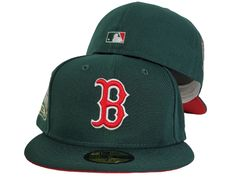 Dark Green New Era Boston Red Sox Red Bottom 1999 All Star Game Side Patch 59fifty Fitted In 2021 Red Bottoms Star Games Boston Red Sox