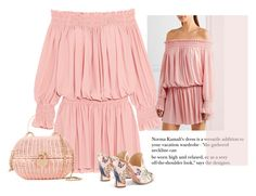 """off the shoulder"" by bodangela ❤ liked on Polyvore featuring Norma Kamali, Aquazzura and Chanel"