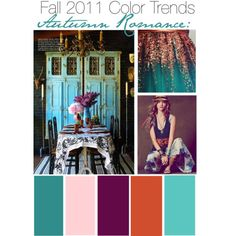 Fall 2011 Color trends.....    Loving the teal!