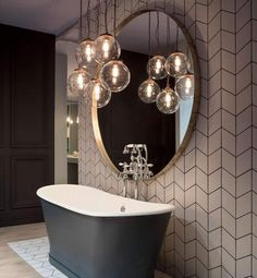 You can read this article to know some of the best bathroom lighting ideas and other tips that you have to know to make a good lighting scheme for your bathroom. lighting 10 Bathroom Lighting Ideas - Unique Lights for Bathroom Bathroom Pendant Lighting, Best Bathroom Lighting, Bathroom Light Fixtures, Hanging Lights In Bathroom, Bathroom Candles, Bad Inspiration, Bathroom Inspiration, Bathroom Ideas, Tiles For Bathrooms