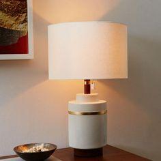 Roar + Rabbit Crackle Glaze Ceramic Table Lamp - Small
