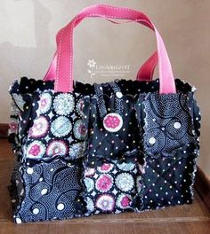 Big Shot purse black - another made with cutting the fabric with the Big shot dies!