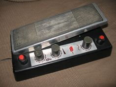 This Poltava was made in 1976 in USSR. It is a Fuzz/Wah/Tremolo type pedal. There's an Overdrive, Wah-wah and Tremolo functions and controls. You can see fuzz on/off knob on the low right. The tremolo is switched on when you press pedal to the max. One of the knobs regulates the speed of tremolo. The pedal runs off 9V batteries - as usual. In/out jacks are DIN5 five-pin Soviet plugs, just like on all the Soviet guitars and effects. The location of in and out sockets is very clever - as soon…