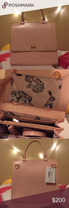 Ted Baker purse/ Beautiful pale pink Ted Baker purse. Brand new with tags. Cute detailed bow in front of purse. Ted Baker Bags Shoulder Bags